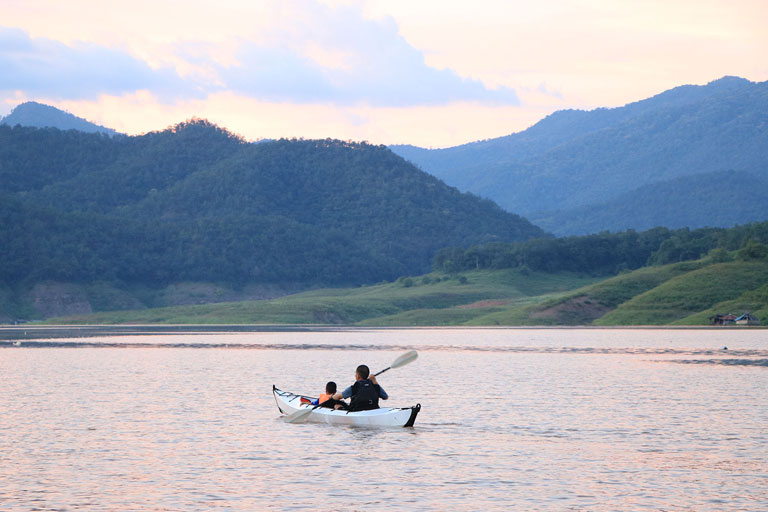 Kayaking at Mae Ping National Park